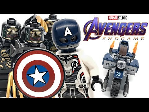 LEGO Avengers Endgame Captain America Outriders Attack review! 2019 set 76123!