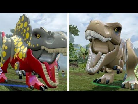 Male T Rex Roblox Lego Jurassic World T Rex Unlock Location Gameplay Skeleton Custom Dinosaur Showcase Youtube