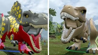 This takes a look at how to unlock the Tyrannosaurus Rex in LEGO Ju...