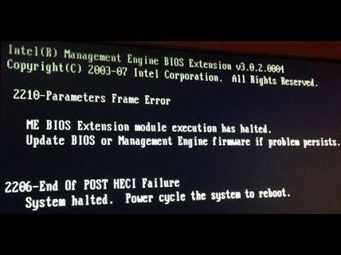 ME Error 2206 & 2210 On Compaq Dc5800