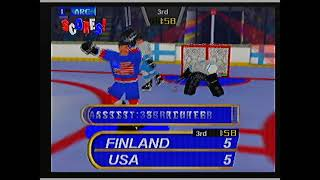 Olympic Hockey Nagano '98 on N64 gameplay