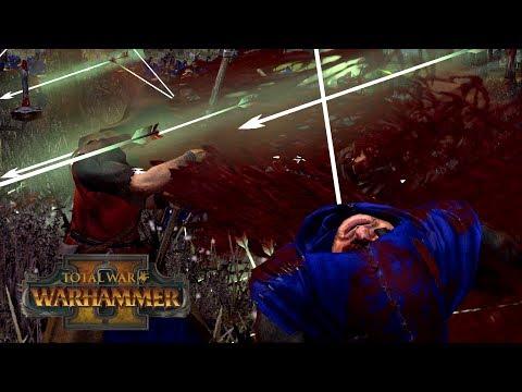 PEASANTS PLAY CATCH - Bretonnia Vs Wood Elves // Total War: Warhammer II Online Battle