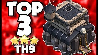 TOP 3 TH9 Attacks you have NEVER Seen in Clash of Clans