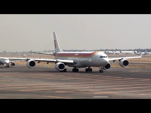 Iberia Airbus A340-600 Despegue de la Ciudad de México
