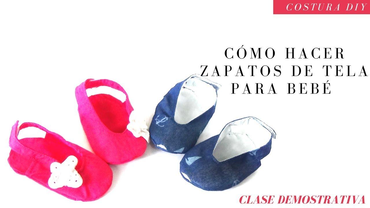 Zapatos de tela para Bebé ( PATRONES GRATIS) / Costura Diy - YouTube