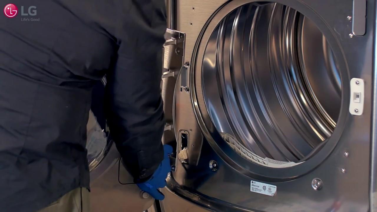 Lg Dryer W On Door Control Panel How To Reverse The Door Youtube