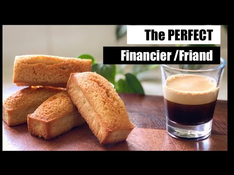 Classic Financier/Friand Almond cake. The Best And Only Recipe You'll Ever Need.