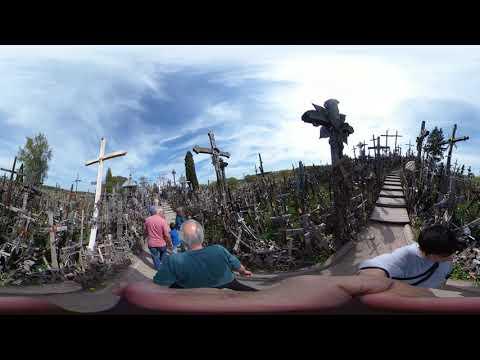 360°撮影 - シャウレイの十字架の丘 - リトアニア