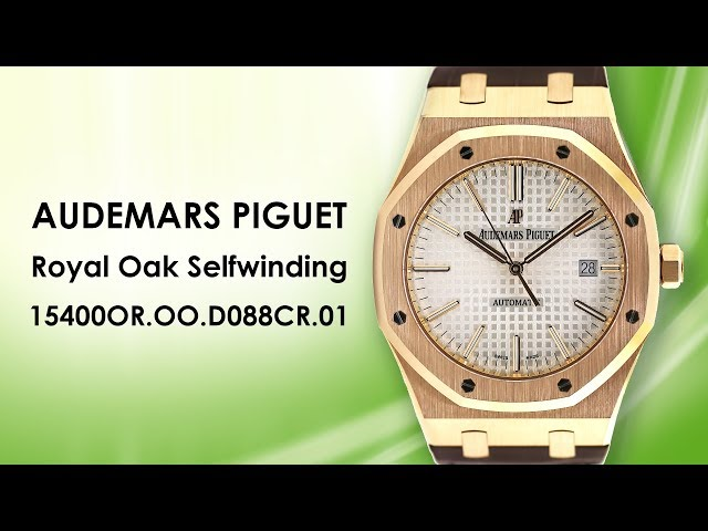 Audemars Piguet Royal Oak Self Winding 5400OR.OO.D088CR.01 41mm Rose Gold Leather Strap Watch
