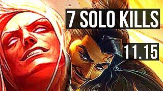 VLADIMIR vs AKSHAN (TOP) | 7 solo kills, 1200+ games, 1.6M mastery | NA Diamond | v11.15