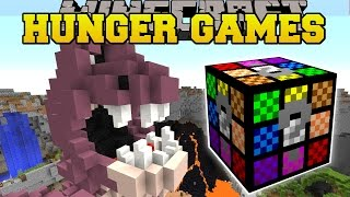minecraft minions crazy hunger games lucky block mod modded mini game