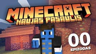 NEMATOMI VORAI, DEIMANTAI IR PIRMASIS NAMAS! | Minecraft: Naujas Pasaulis #00