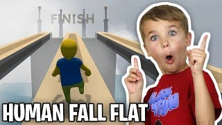 RACING AGAINST MY DAD in HUMAN FALL FLAT!!!