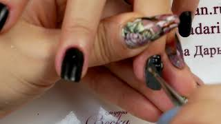 Жуткие отслойки и суперклей Матовые ногти с втиркой Маникюр с пигментами Шулунова Дарья