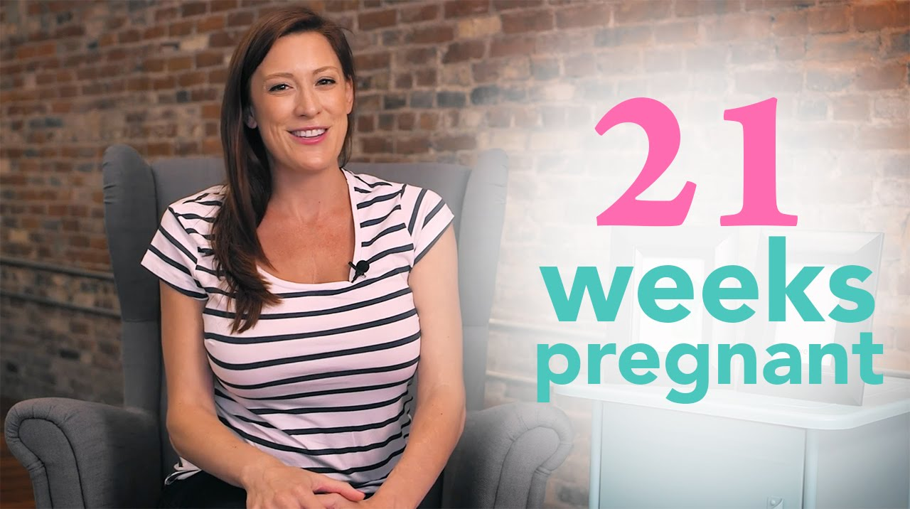 21 Weeks Pregnant - Ovia Pregnancy - YouTube