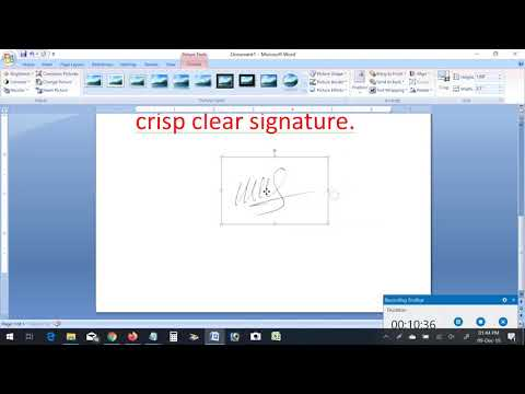 Remove Signature Background using MS Word