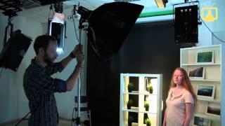 Как снимать красивые портреты с одним источником света. Урок фотографии / VideoForMe - видео уроки