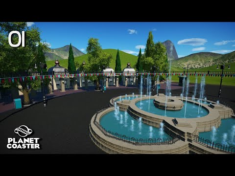 Planet Coaster | Adventure World 🌍 | Ep.1 Entrance Ticket Booth Plaza