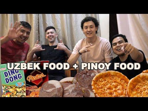 Filipino Snack Tried By Uzbek Guys And Uzbek Food Tried By Filipino Guy | GeloShowVlogs