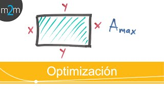 Optimización │área de un rectángulo