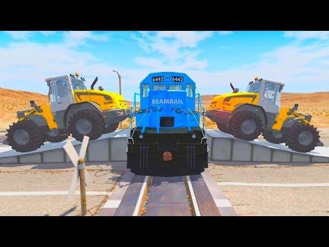 Видео: Видео игра про машины тракторы и поезда - Самые новые эксперименты!