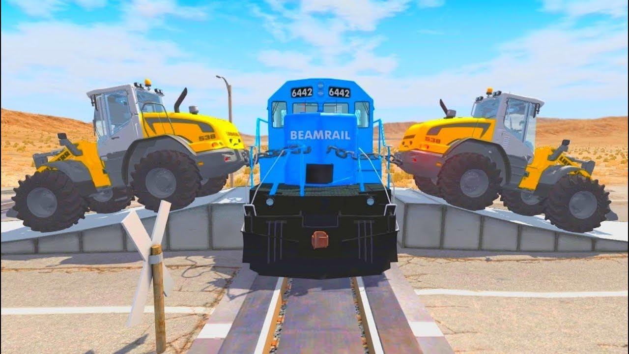 Видео игра про машины тракторы и поезда - Самые новые эксперименты!