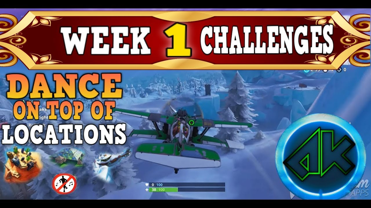 Fortnite Week 1 Challenges Guide Dance On Top Of Rv S Metal Turtle