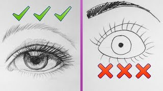 DOs & DON'Ts: How to Draw Better Eyes Step by Step Art Tutorial #aboutFace