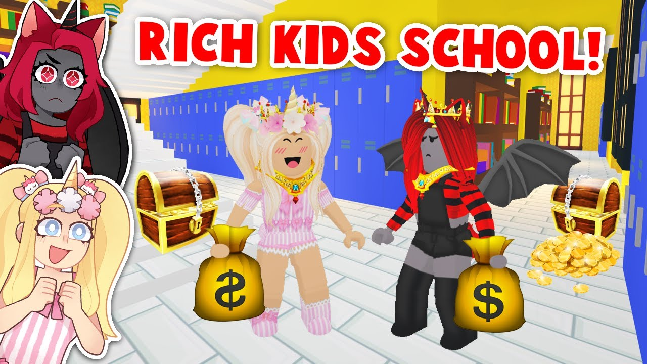 We Went To A RICH KIDS ONLY School In Adopt Me! (Roblox)