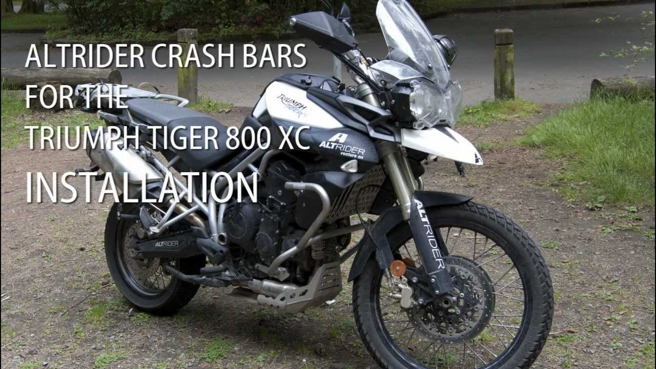 Altrider Tiger 800 Xc Crash Bars Installation Instructions Youtube