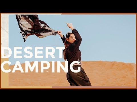 VLOG 14- CAMPING IN THE DESERT (MY FIRST TIME!!) | DUBAI