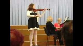 Л. Обер. Жига. исп. Полина Влайку. Cкрипка. L. Aubert. Gigue (violin)