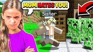MY LITTLE SISTER AND I HAD A FIGHT in Minecraft!