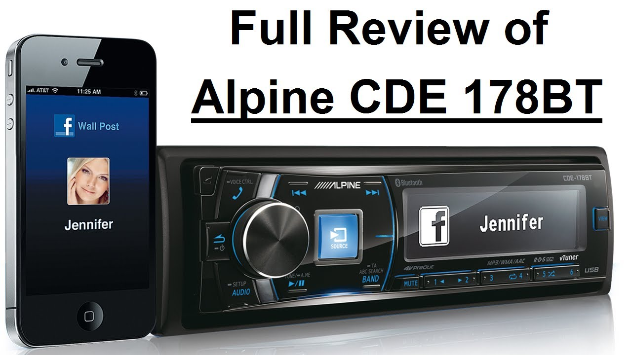 Full review of alpine cde 178bt in germandeutsch youtube sciox Choice Image