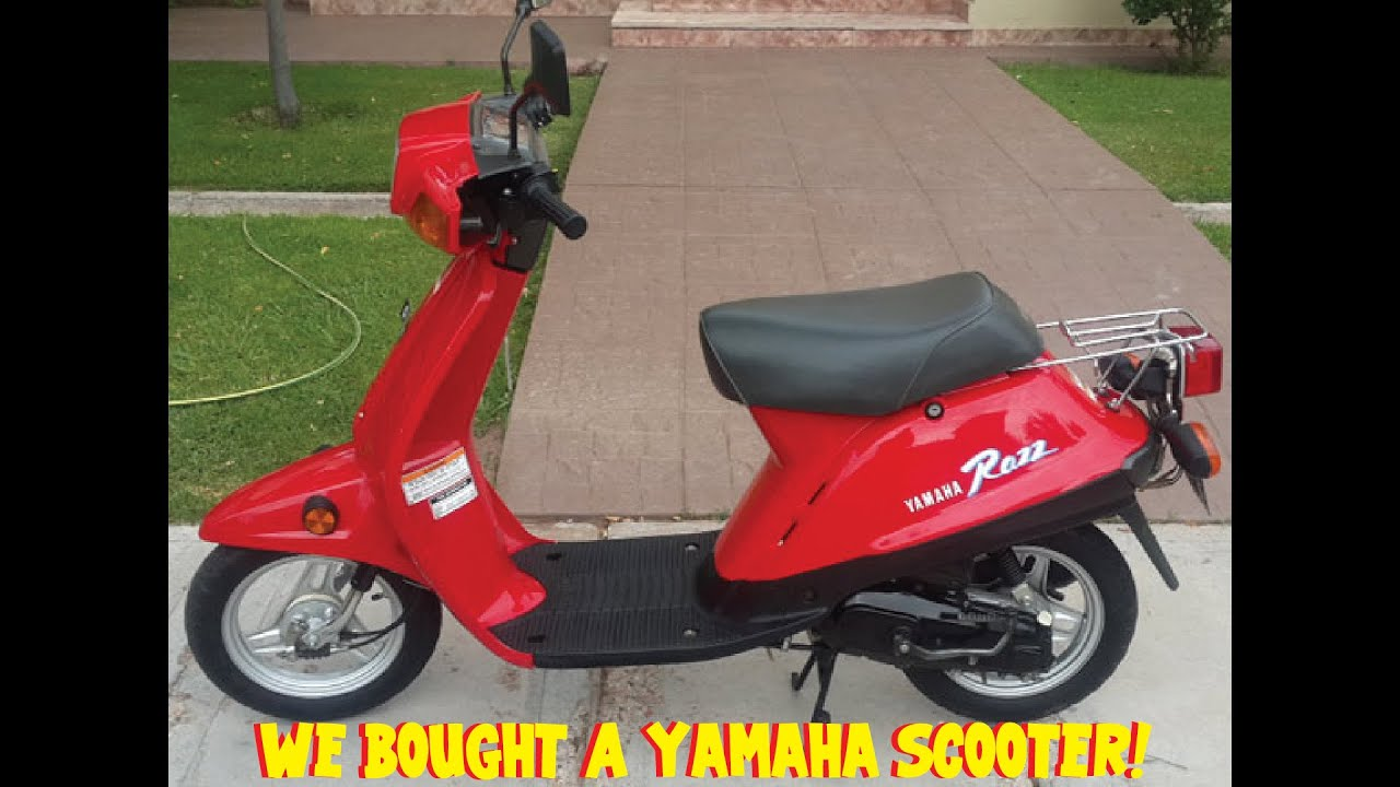 Part 1: $500 Craigslist buy, Will it run? We bought a Yamaha Riva Razz 49cc  Motor Scooter!