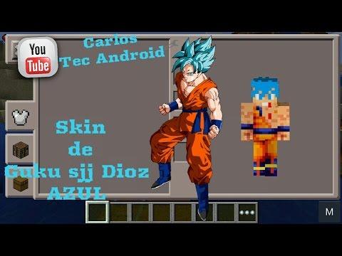 Skin De Goku Sjj Dios Para Minecraft Pe YouTube - Skin para minecraft pe goku