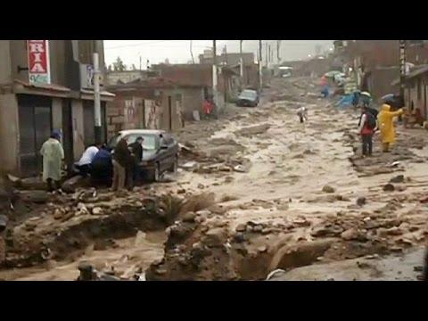 Lluvias e inundaciones agravadas por el fenómeno El Niño provocan enormes destrozos en Perú