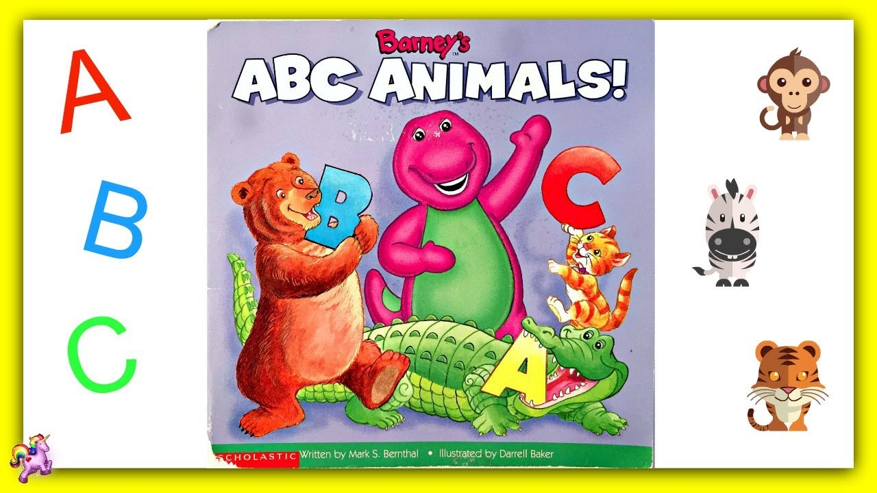 Barney Barneys Abc Animals Read Aloud Storybook For Kids