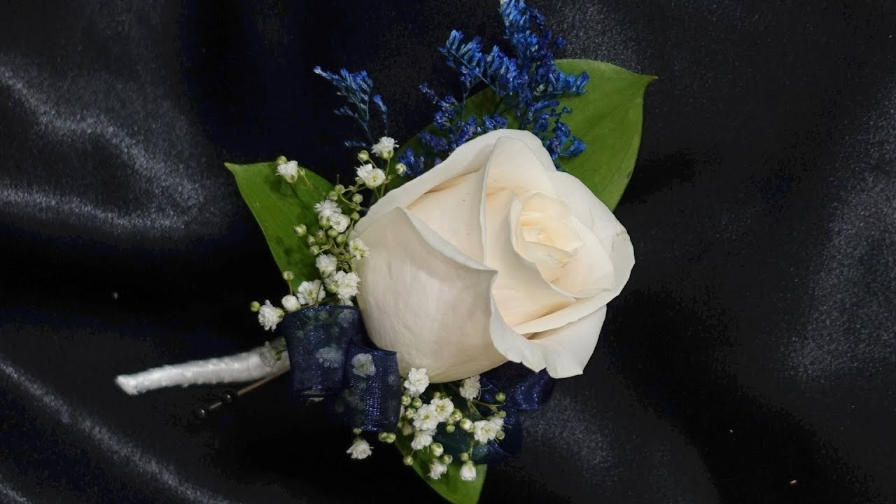How To Make A Single Rose Boutonniere Youtube