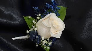 How to make a single rose boutonniere
