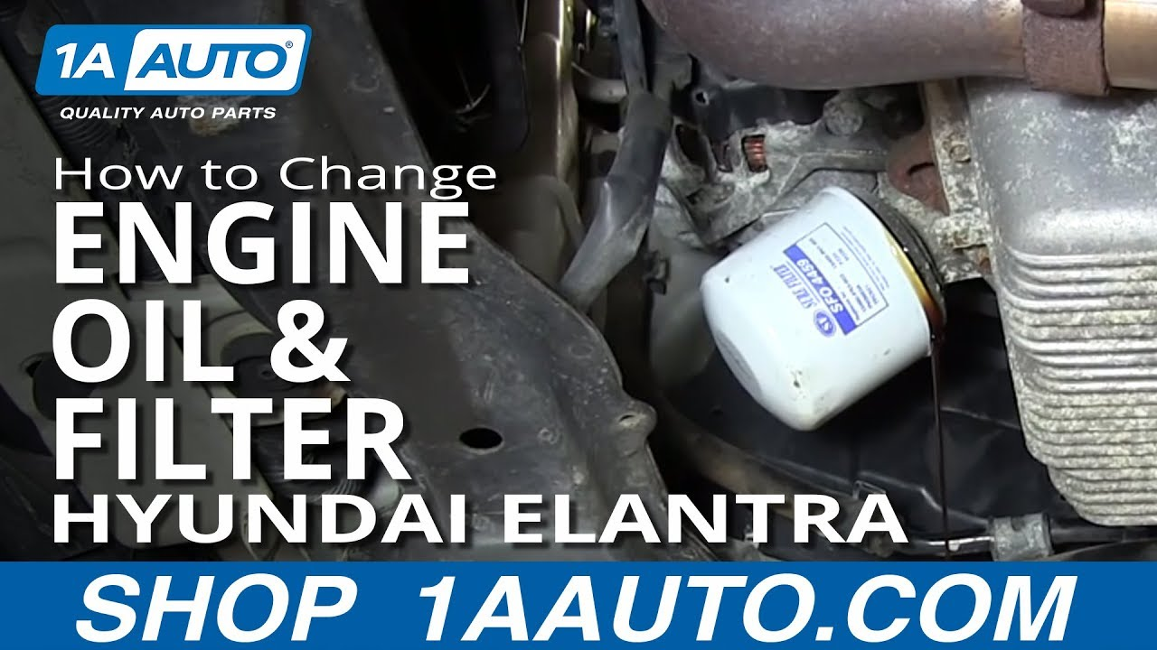 How To Change Engine Oil And Filter 2001 06 Hyundai Elantra 2 0l Youtube