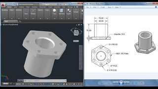 3D practice drawing in AutoCAD