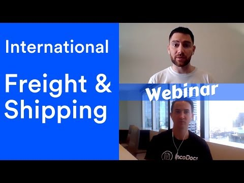 International Freight and Shipping - Import Export Webinar