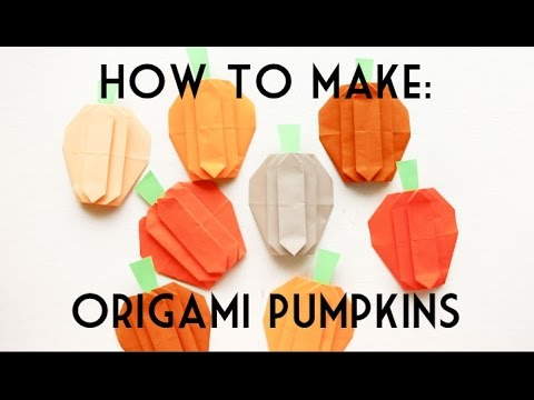 Origami Pumpkin for Halloween or Thanksgiving Decoration