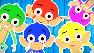 Five Little Monkeys Jumping On The Bed | Nursery Rhymes Videos For Toddlers | Videos by Kids Channel
