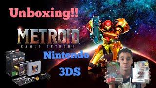 Metroid samus returns LEGACY EDITION!! Nintendo 3ds UNBOXING + 2 amiibos