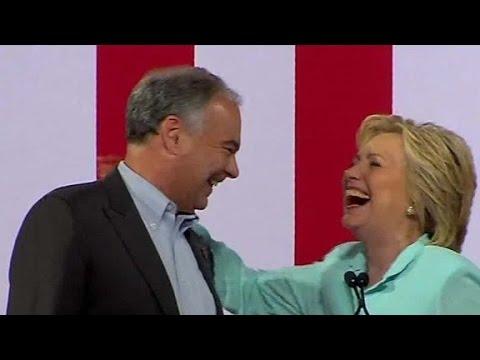 Hillary Clinton: The next VP is Tim Kaine