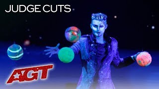 Viktor Moiseev's Horizontal Juggling Is Out Of This World! - America's Got Talent 2019