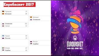 Евробаскет 2017. ЧЕ по баскетболу. Полуфиналы результаты, и расписание плей-офф.