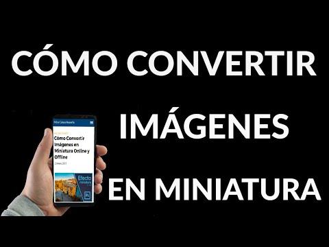 Cómo Convertir Imágenes en Miniaturas
